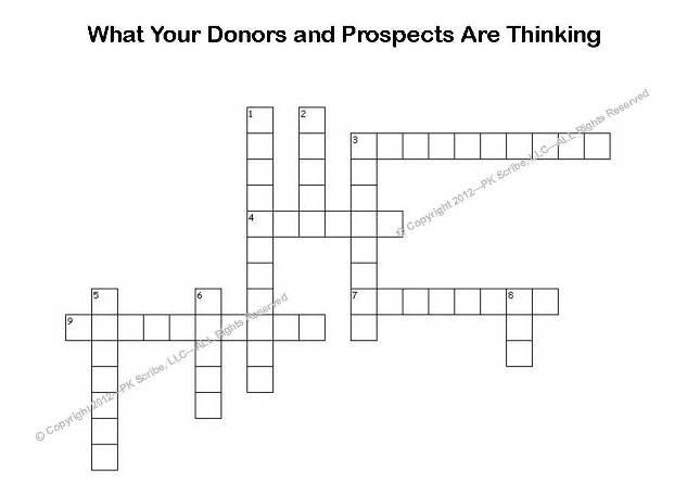 Fundraising Crossword Puzzle