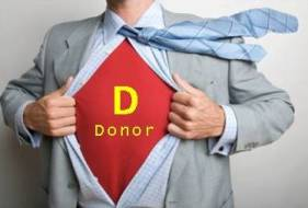 The hero is the donor