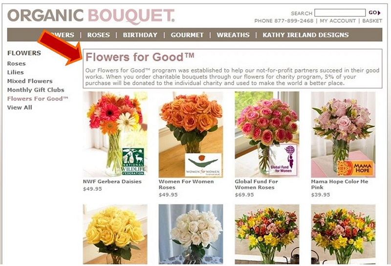 Cause Marketing example...Flowers for Good